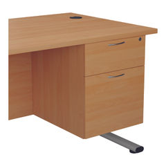View more details about Jemini 655 Beech 2 Drawer Fixed Pedestal