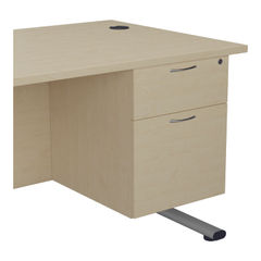 View more details about Jemini 655 Maple 2 Drawer Fixed Pedestal
