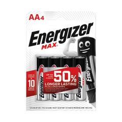 View more details about Energizer MAX E91 AA Batteries (Pack of 4) E300112500