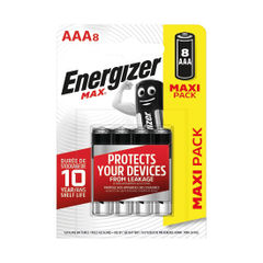 View more details about Energizer MAX E92 AAA Batteries (Pack of 8) E300112100
