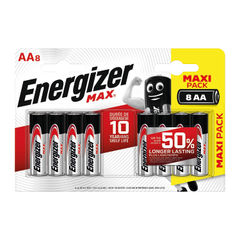 View more details about Energizer MAX E91 AA Batteries (Pack of 8) E300112400