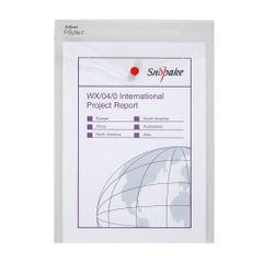 View more details about Snopake Polyfile P File Wallet Portrait A4 Clear (Pack of 5) 13263