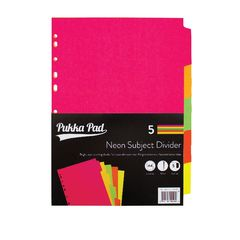 View more details about Concord Divider 5-Part A4 Manilla Neon Assorted 89099