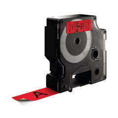 View more details about Dymo D1 Label Tape 19mm x 7m Black on Red ES45807