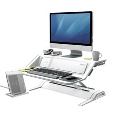 View more details about Fellowes Lotus DX Sit-Stand Workstation White 8081101