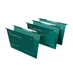 View more details about Rexel Crystalfile Foolscap Green Links Suspension Files, Pack of 50 - 3000030