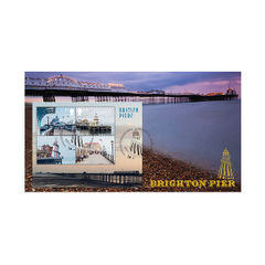 View more details about Piers Proms and Pavilions Miniature Sheet First Day Cover - BC512M