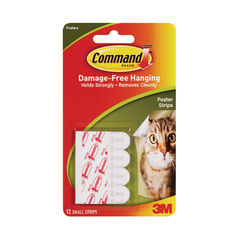 View more details about Command Small Poster Strips, Pack of 12 - 7100118790