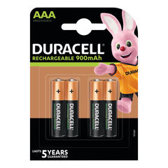 View more details about Duracell Stay Charged Rechargeable AAA NiMH 900mAh Batteries (Pack of 4) 81364750