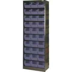 View more details about 30 Bin Dark Grey Metal Bin Cupboard - 371834