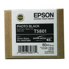 View more details about Epson T5801 Photo Black Inkjet Cartridge C13T580100 / T5801