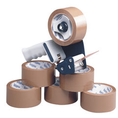 View more details about Tape Dispenser With 6 Rolls Polypropylene Tape 50mmx66m (Pack of 6) 9761Bdp01