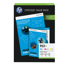 View more details about HP 953XL CMY Ink Cartridge Office Value Pack