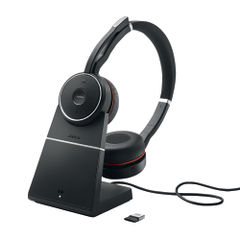 View more details about Jabra Evolve 75 Wireless MS Headset with Charging Stand - 7599-832-199