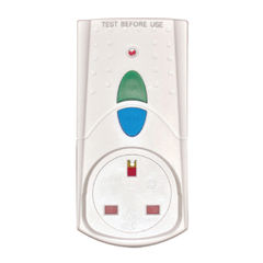 View more details about RCD Safety Plug White (Takes 3000 upto Watts and 13 Amps) PB5000