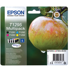 View more details about Epson T1295 CMYK Ink Cartridge Multipack - C13T12954012