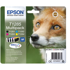 View more details about Epson T1285 CMYK Ink Cartridge Multipack - C13T12854012