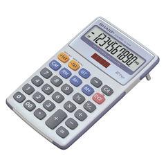 View more details about Sharp White and Grey 10-Digit Semi-Desktop Calculator EL334FB