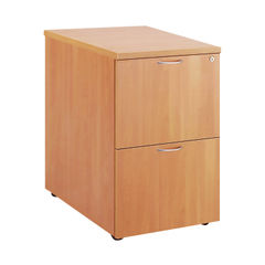 View more details about First 730mm Beech 2 Drawer Filing Cabinet
