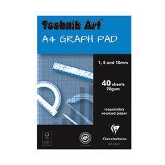 View more details about Clairefontaine Technik Art 1/5/10mm Graph Pad 40 Leaf XPG1