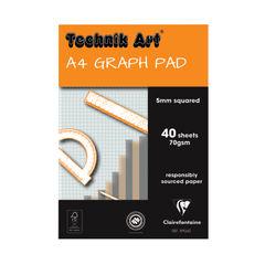 View more details about Clairefontaine Technik Art 5mm Quadrille Graph Pad A4 40 Leaf XPG6