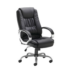 View more details about Darcy Black Executive Elite Leather Look Office Chair – 27246