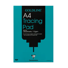 View more details about Clairefontaine Goldline Heavyweight Tracing Pad 112gsm A4 50 Sheets GPT3A4
