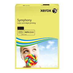 View more details about Xerox Symphony Pastel Tints Yellow Ream A4 Paper 80gsm 003R93975 (Pack of 500)