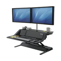 View more details about Fellowes Lotus DX Sit-Stand Workstation Black 8081001