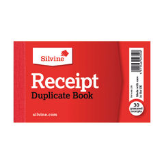 View more details about Silvine Duplicate Receipt Book 63x106mm Gummed (Pack of 36) 228