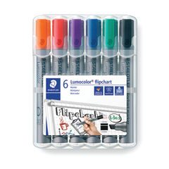 View more details about Staedtler Flipchart Marker Assorted (Pack of 6) 356Wp6