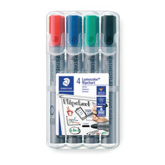 View more details about Staedtler Flipchart Marker Assorted (Pack of 4) 356 WP4