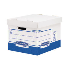 View more details about Bankers Box Basics Standard Heavy Duty Storage Boxes, Pack of 10 - 4461701