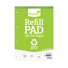 View more details about Silvine Everyday Recycled Ruled Refill Pad A4 (Pack of 6) RE4FM-T