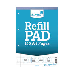 View more details about Silvine A4 Narrow Feint Ruled and Margin Refill Pad - Pack of 6- A4RPN/FT&M
