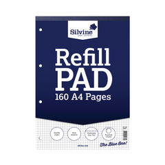 View more details about Silvine 5mm Square Headbound Refill Pad A4 160 Pages (Pack of 6) A4RPX