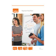 View more details about Nobo Plain Flipchart Pad A1 100 Sheet (Pack of 2) 34633681