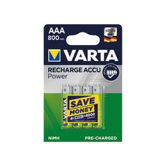 View more details about Varta AAA Rechargeable Accu Battery NiMH 800 Mah (Pack of 4) 56703101404