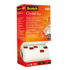 View more details about Scotch 19mm x 33m Crystal Tapes, Pack of 14 - CRYSTAL14VP