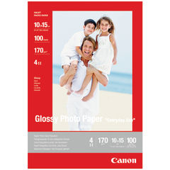 View more details about Canon Glossy Photo Paper 10 x 15cm 170gsm (Pack of 100) 0775B003