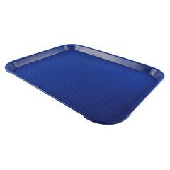 View more details about Blue Plain Non-Slip Surface Tea Tray - F5035