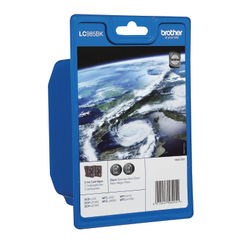 View more details about Brother LC985BK Black Ink Cartridge Twin Pack - LC985BKBP2