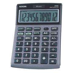 View more details about Aurora Grey/Black 12-Digit Semi-Desk Calculator DT661
