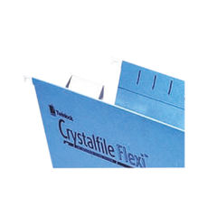 View more details about Rexel Crystalfile Flexi Tab Inserts White (Pack of 50) 3000058