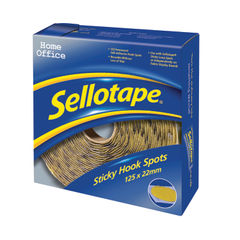 View more details about Sellotape 22mm Sticky Hook Spots, Pack of 125 - 1445185
