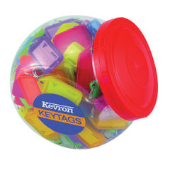 View more details about Kevron Plastic Clicktag Key Tag Large Assorted Tub (Pack of 150) ID5AC150