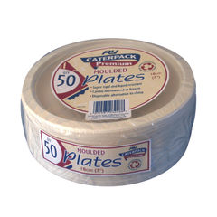 View more details about Caterpack 7 Inch Super Rigid Biodegradable Plates, Pack of 50 - 3865