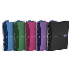 View more details about Oxford Assorted A4 Opaque Poly Wirebound Notebooks, Pack of 5 - 100101918