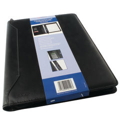 View more details about Monolith Leather Look Conference Folder With A4 Pad and Calculator Black 2914