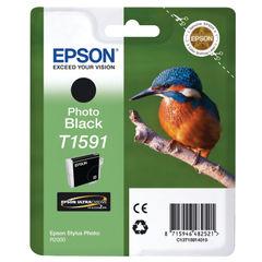 View more details about Epson T1591 Black Photo Inkjet Cartridge C13T15914010 / T1591